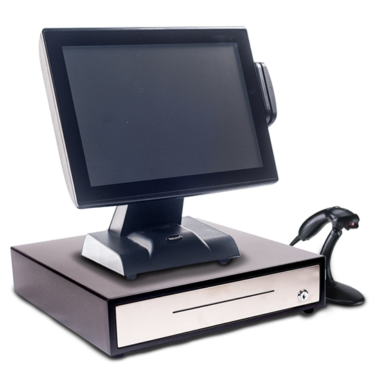 "All in One 15"" Touch Screen EPoS System with a Single Beam Scanner"