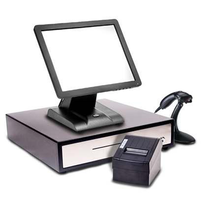 "Starter POS 15"" Touch Screen EPoS System with a Single Beam Scanner"